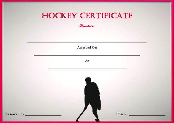 Blank Hockey Certificate Template Hockey Certificate Templates