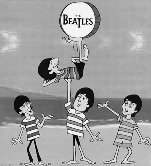 The Beatles Cartoon Beatles Cartoon The Beatles Beatles Art