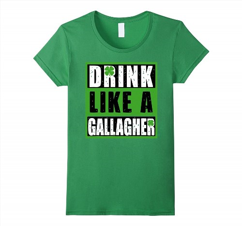 19.95$  Buy now - http://vipwj.justgood.pw/vig/item.php?t=0t73oq63130 - Drink Like A Gallagher Shirt St Patrick's Day Women
