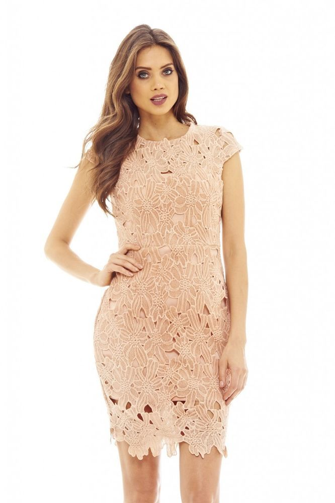42+ Ax paris pink crochet lace midi dress trends