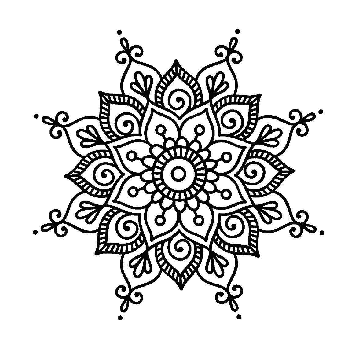 Pin von Danni Krisinger auf Mandalas | Pinterest | Silhouetten ...