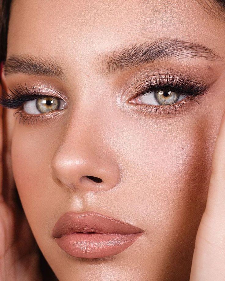 Photo of Smokey eyeliner, bronze eye makeup, nude lips, neutral, makeup goals – #Bronze #…