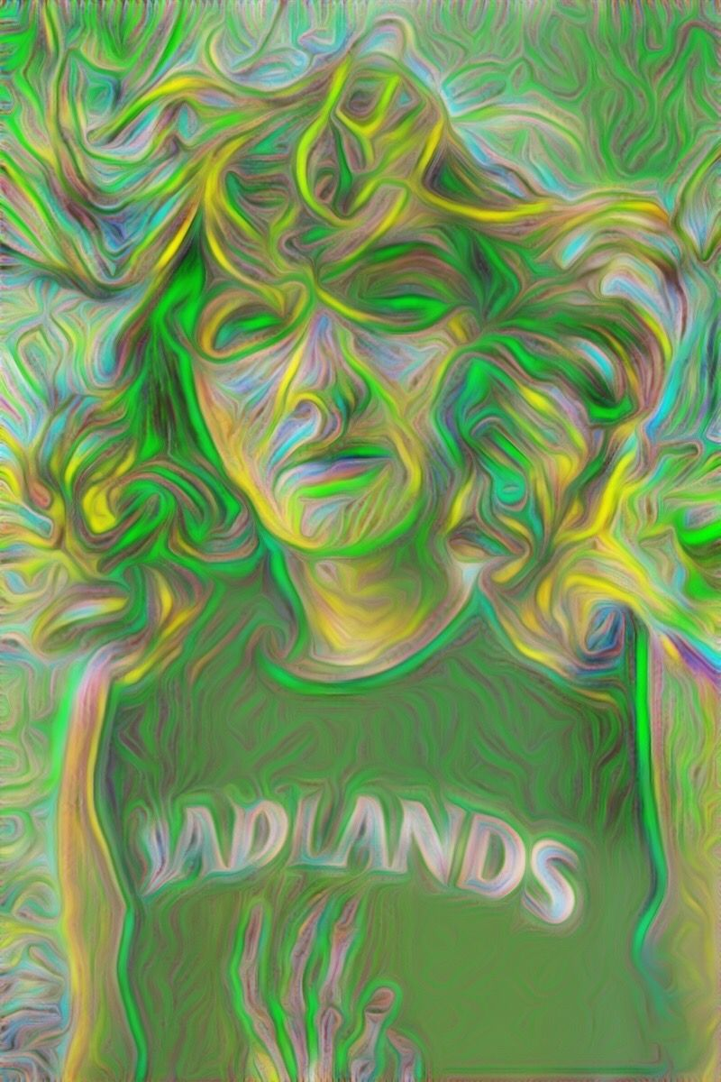 Trippy in Green | Created with Painnt app. Painnt uses neural networks to generate gorgeous artwork from your Camera roll