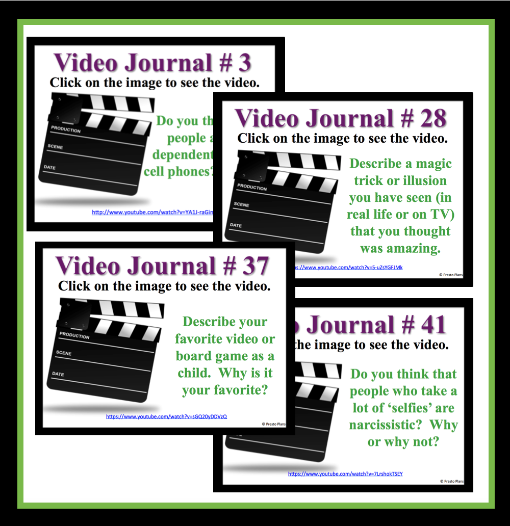 I started using video journals once a week as a writing prompt.  Not only do my students love them, but it helps with classroom management and has …