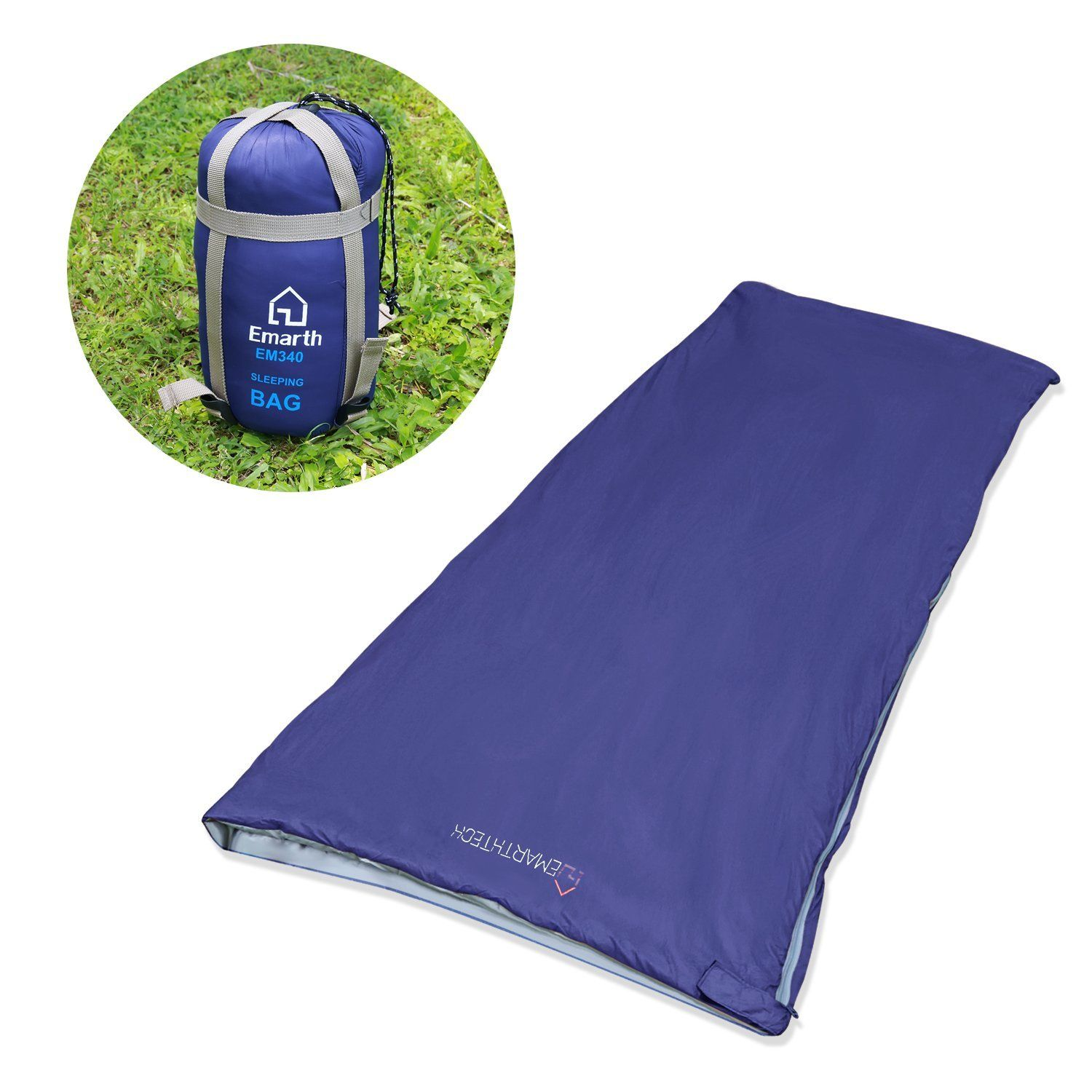 Emarth Warm Weather Sleeping Bag Large Compact Envelope Design For Temperatures 48 F To 60 Review More Details Here Camping Bags