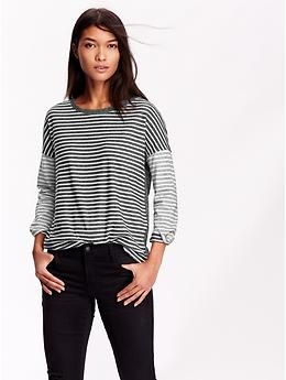 Womens Boxy Striped Tops