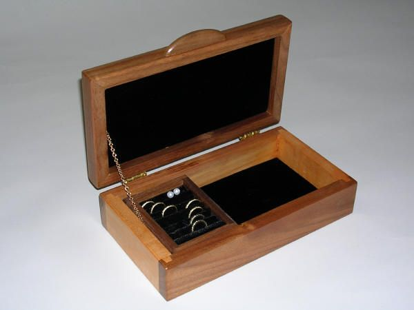 Small Wooden Jewelry Box Boxes Pinterest Wooden jewelry boxes