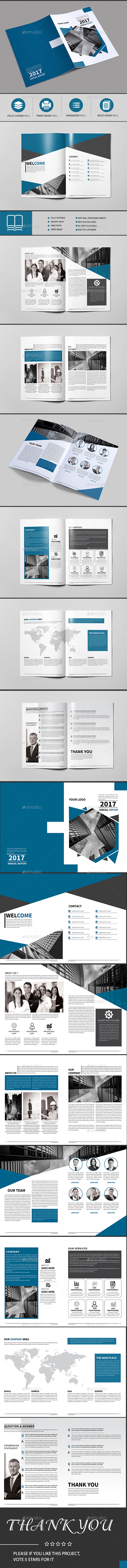 Corporate Brochure Template 16 Page — InDesign Template #orange ...