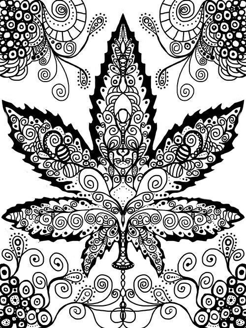 Image result for weed mandala #adultcoloringpages