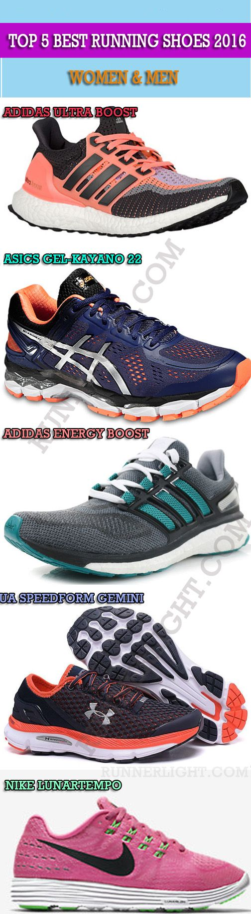 20c50274c25 op 5 BEST Running Shoes 2016 - Women   Men.  runner