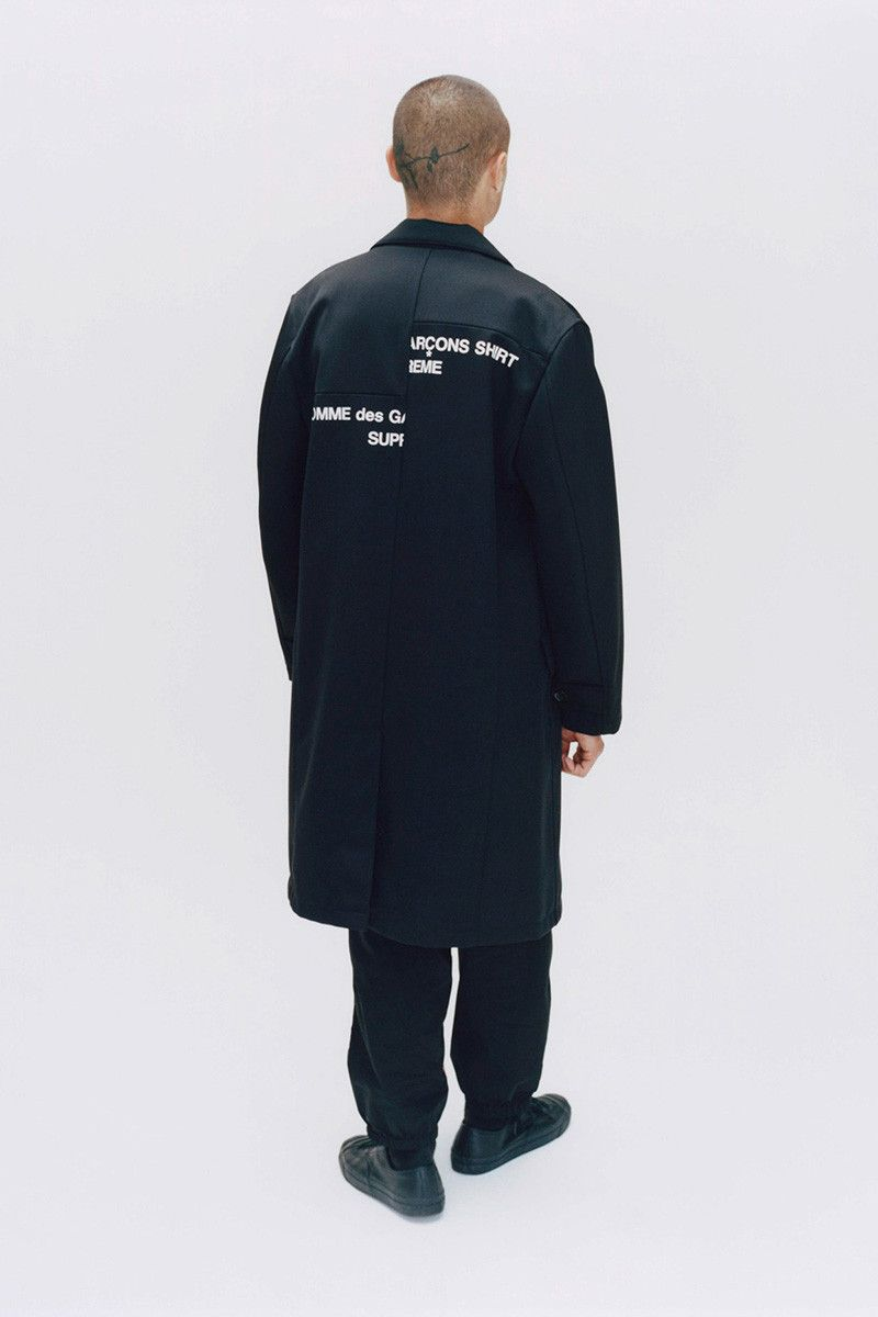 Supreme Comme Des Garcons Fw18 Collection First Look Manner Outfit Hemd Gondel [ 1200 x 800 Pixel ]