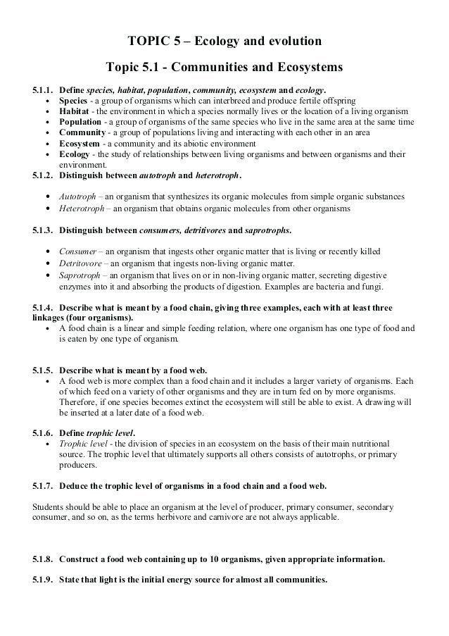 Ecology Review Worksheet 1 Ecology Worksheets - Keepyourheadup