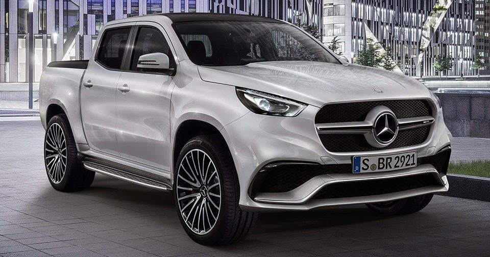 New Merc X Class Pickup Concept Gets Rendered In Amg Form