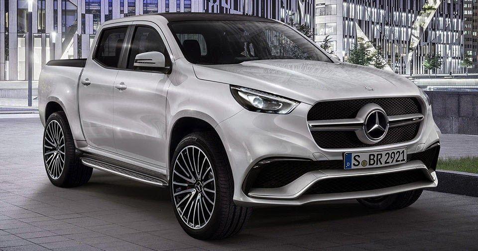 New Merc X Class Pickup Concept Gets Rendered In Amg Form Carro Mercedes Picapes Caminhonetes