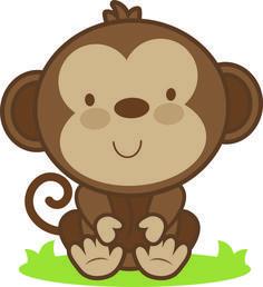 Dibujos Monos Infantiles Good Animales De La Selva Una Ilustracin Vectorial De Dibujos Animados De Nueve Diferentes A Baby Animal Art Cute Clipart Baby Monkey