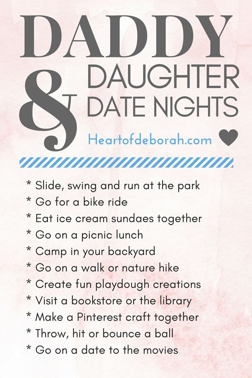 Father Daughter Date Ideas For Teens