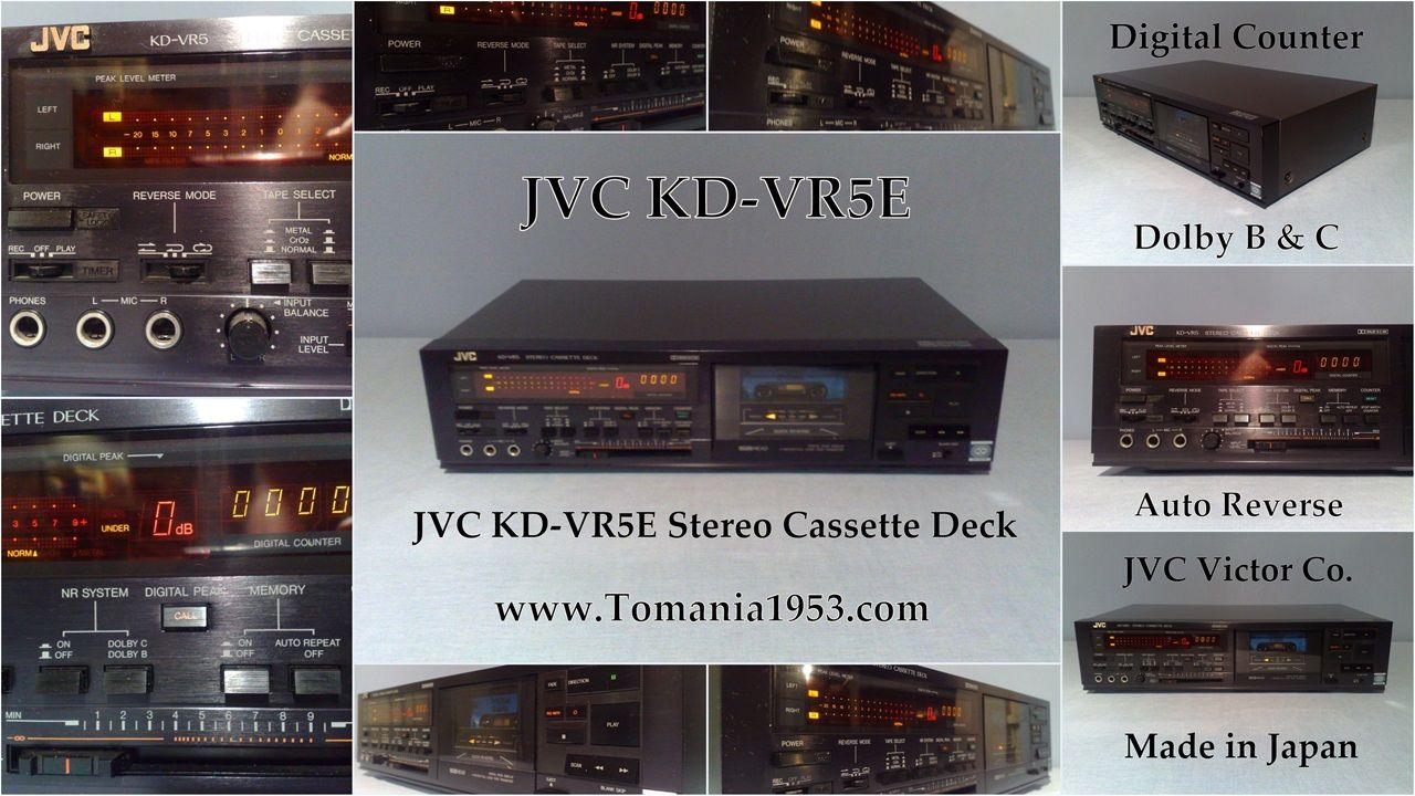 Jvc Kd Vr5e Stereo Cassette Deck Radio Electronics Sony Mex N5100bt Wiring Harness