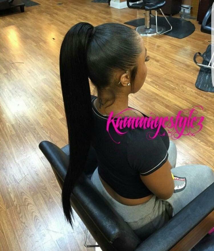 Slick Ponytail Hair Pinterest Ponytail Hair