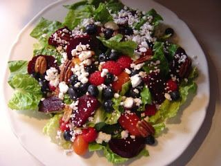 SALADS: BLUEBERRY BEET SALAD (click here to print)