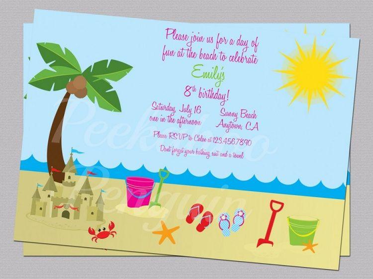 beach party invitations ideas invitation card pinterest