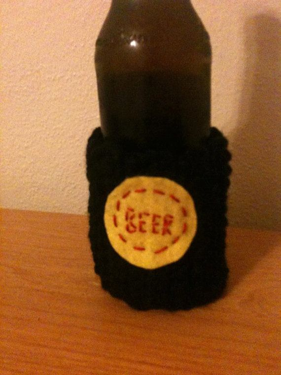 Beer Cozy by snailyknitter on Etsy, $6.00