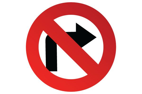 graphic relating to Printable Road Signs identify Printable No Directly Transform Signal for Street Signs or symptoms PDF Free of charge