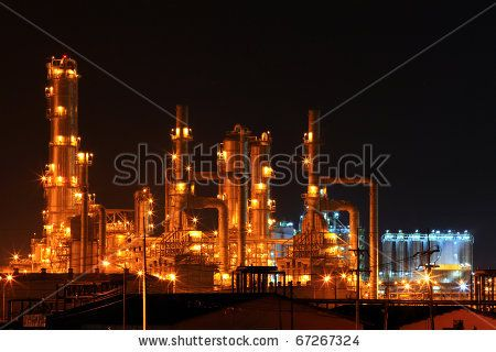 Lit Up Like The Capital City Of Hell Long Beach Refinery At