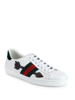 62c67f58cc4 Shop these embroidered Gucci sneakers with Lorena at Saks!