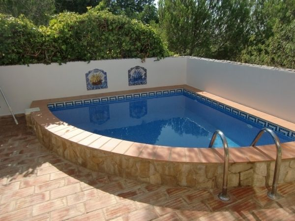 Corner Pool Small Patio Design Ideas Deck Flooring Mediterranean