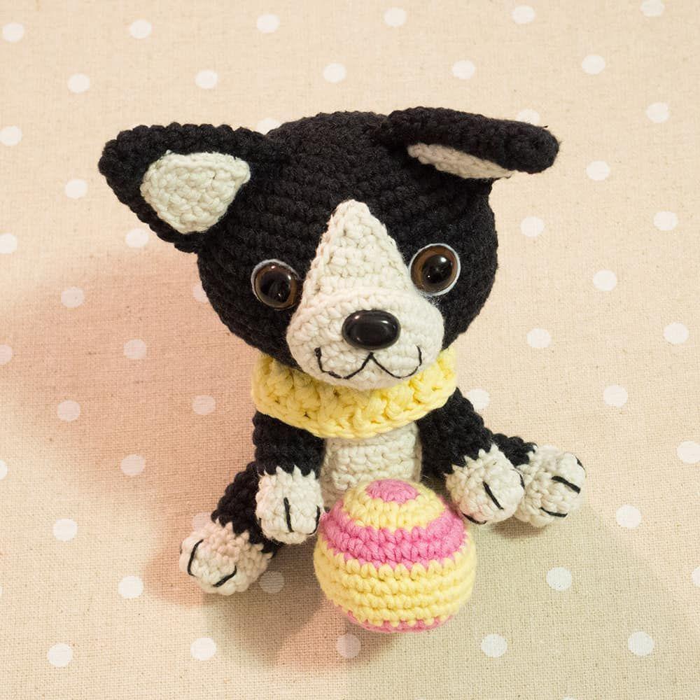 Amigurumi Boston Terrier Puppy - Kostenlose Häkelanleitung | Häkeln+ ...