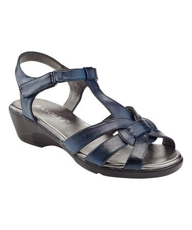 Look at this #zulilyfind! Navy Glory Knotted-Toe Sandal #zulilyfinds