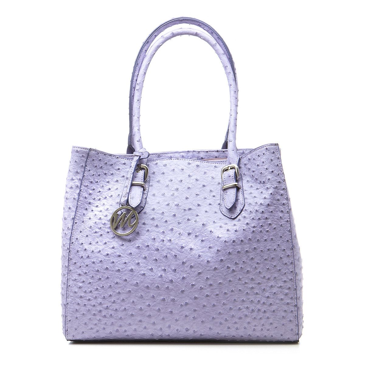 April 27. Nicole Tote Iris Purple Ostrich