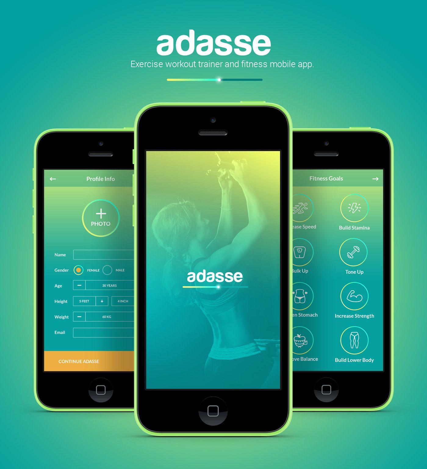 Adasse Gym workout mobile app by Naresh Kumar Mobile