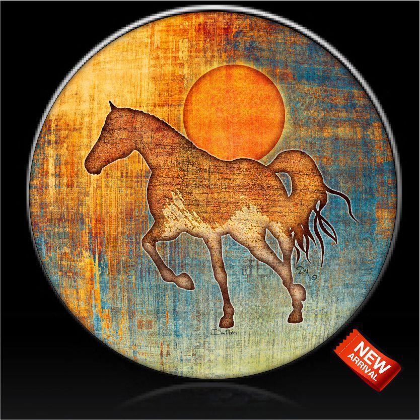 Mustang Sunset Horse Spare Tire Cover Dan Morris C Custom Tire