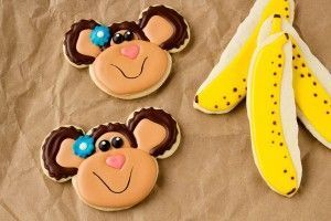 Monkey Cookies with a Mickey Mouse Cutter - The Bearfoot Baker