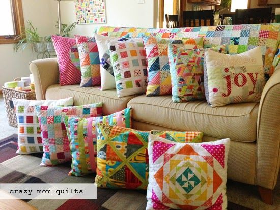 One day my couch will look like this too!! From: Crazy Mom Quilts ... : quilts and pillows - Adamdwight.com