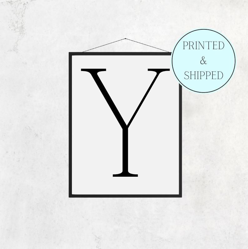 Y Print Letter Y Print Alphabet Print Letter Print Simple   Etsy