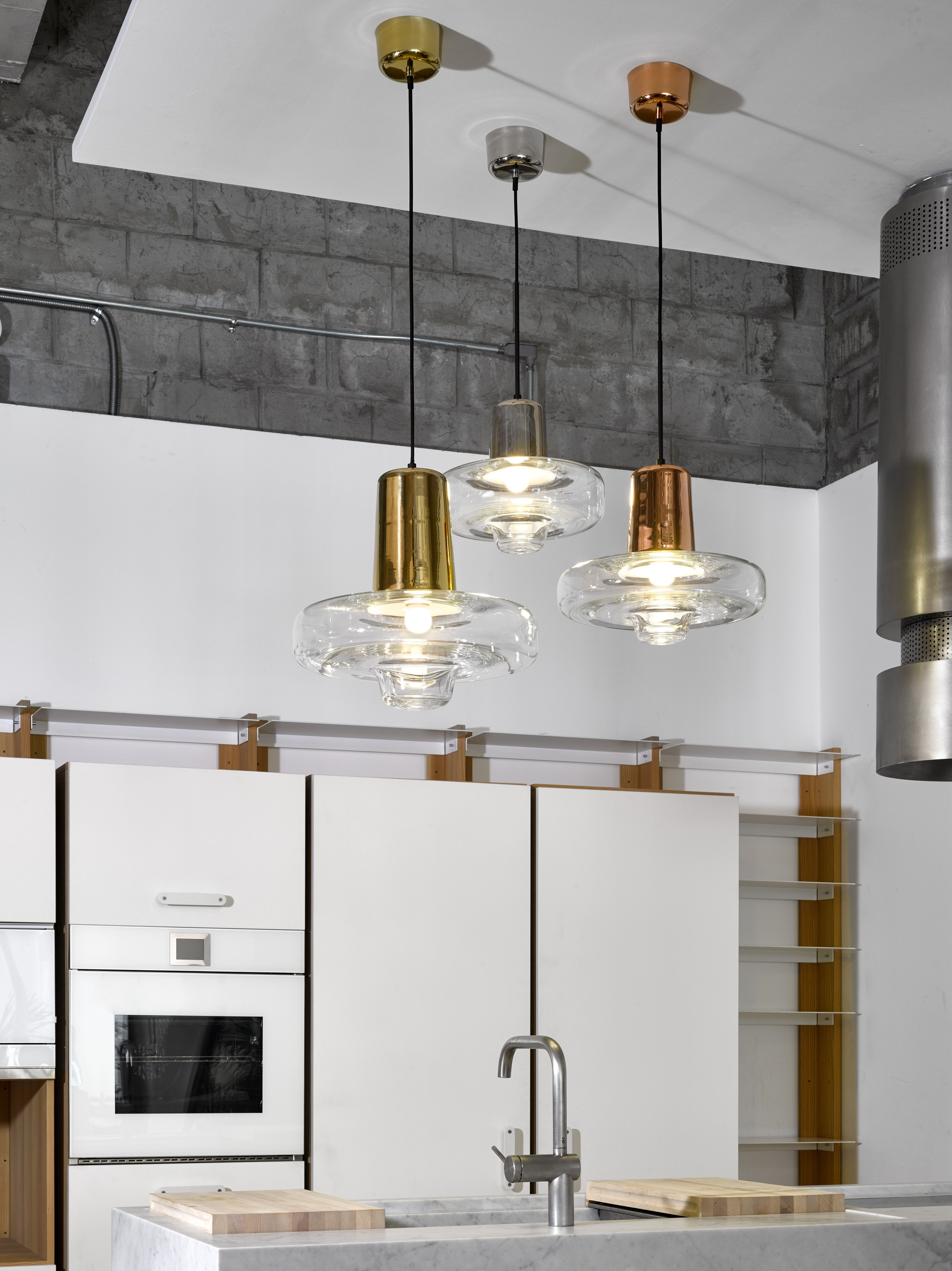 Spin Light Pendants By Lasvit Designed Lucie Koldová At Cwc Interiors Showroom In Manila