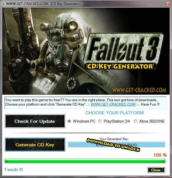 Fallout 3 CD Key Generator Full Game Download 2016 | Skidrow