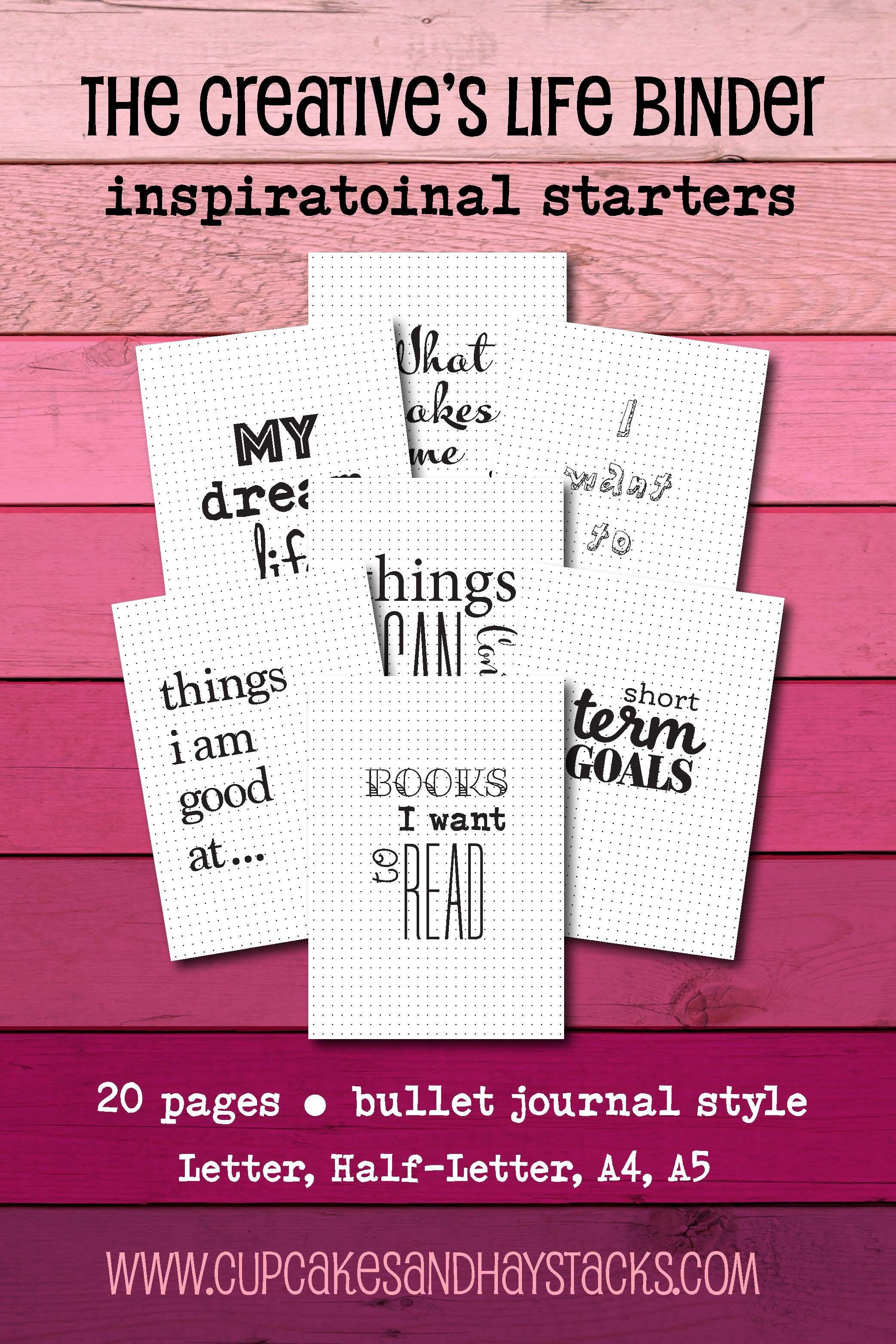 Bullet Journal Printable Bullet Journal Starter Kit Life Planner