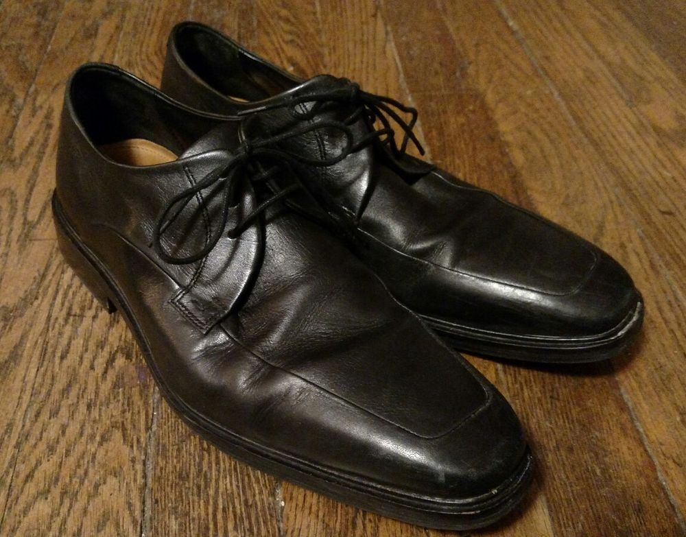 COLE HAAN Mens Black Leather Lace Up Oxfords Sz 9.5 M
