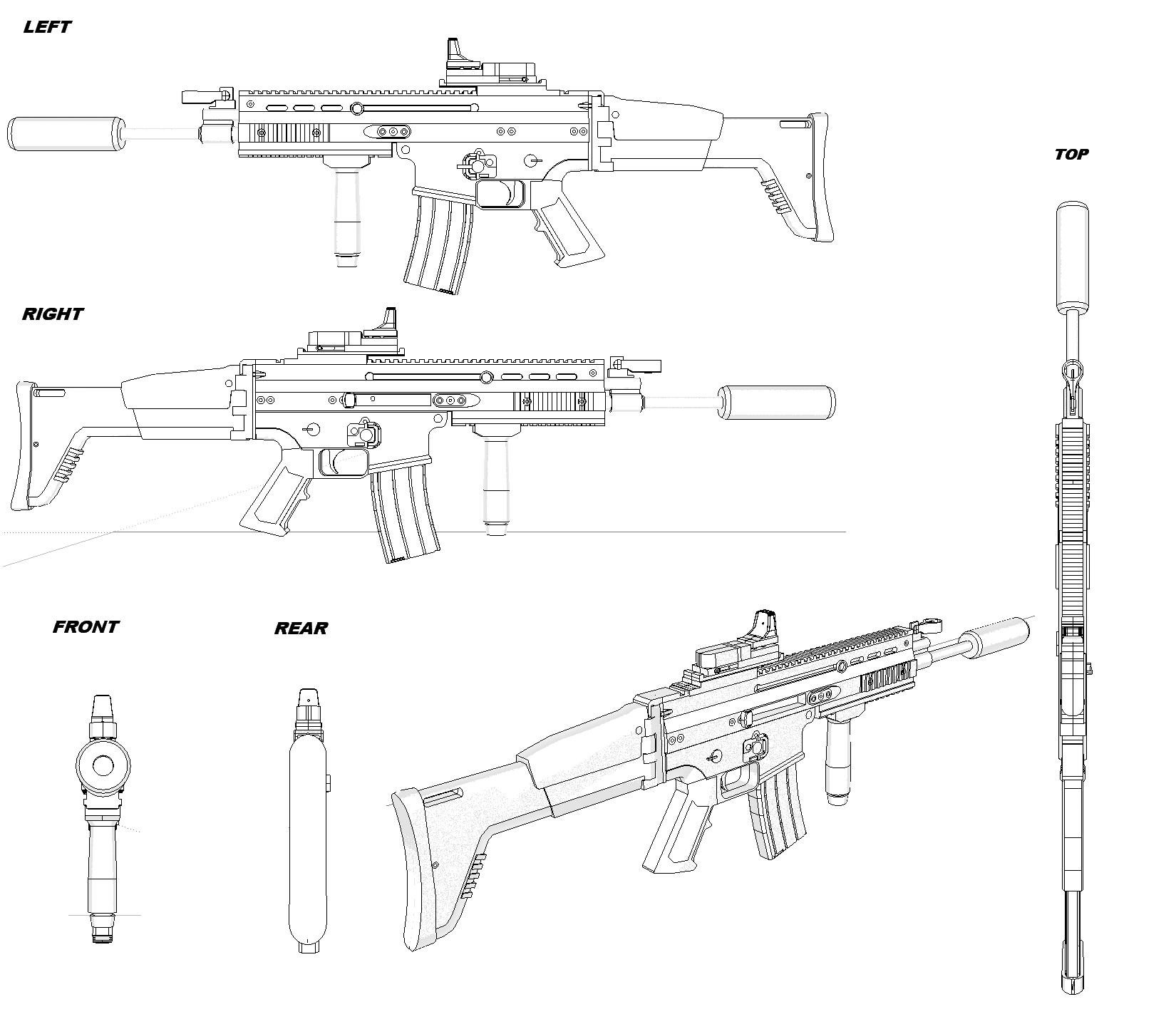 Scar h blueprint weapons ranged pinterest fn scar weapons scar h blueprint malvernweather Images