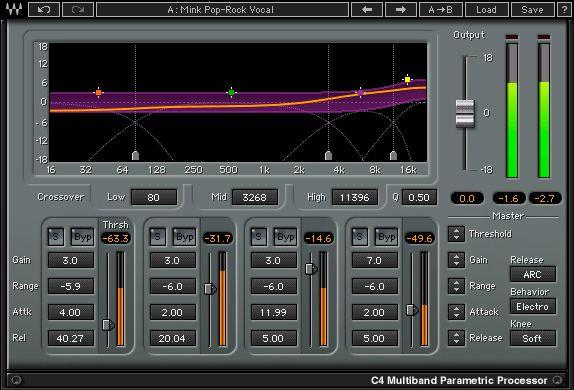 C4 Multiband Compressor Plugin Waves Audio Waves Audio Music Recording Equipment