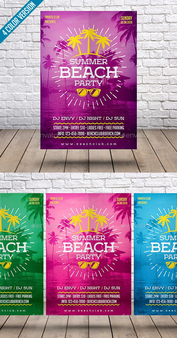 Summer Beach Party #Flyer - Events Flyers Download here: https ...