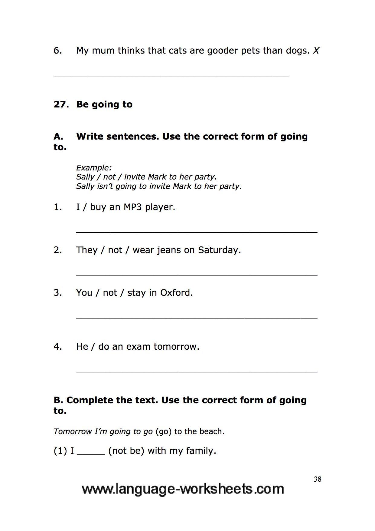 Grammar Worksheets 38