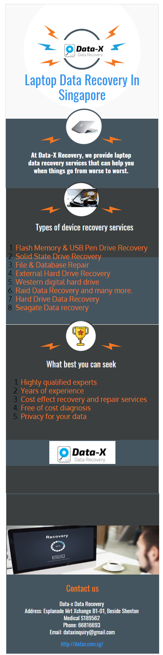 At DataX Recovery, we provide laptop data recovery