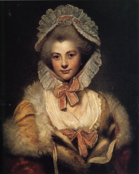 An example of 18th century winter wear. I find it very attractive, but it looks a bit confining.