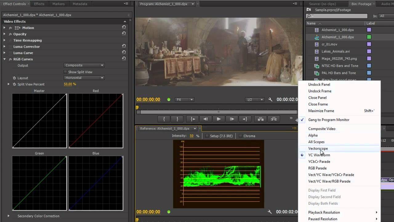 Premiere Pro CS6 Techniques: 61 Color 14 RGB Curves 1