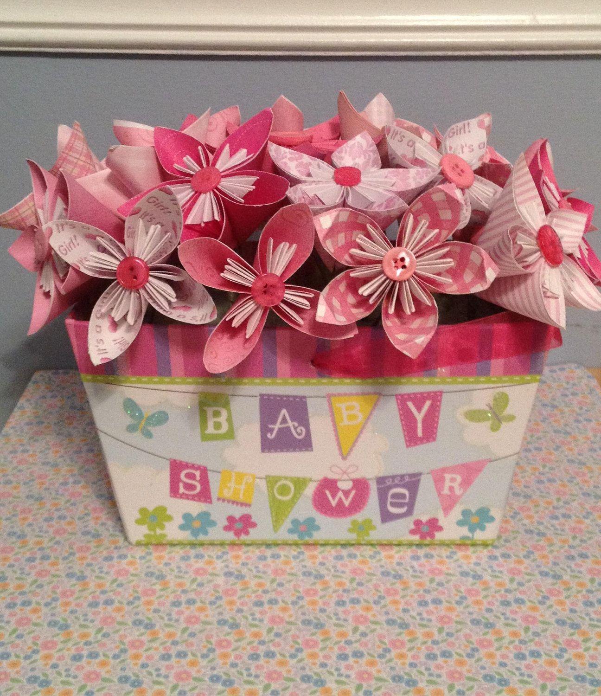 It\'s a Girl Origami/Kusudama Pink Flower Bouquet/ Floral Arrangement ...