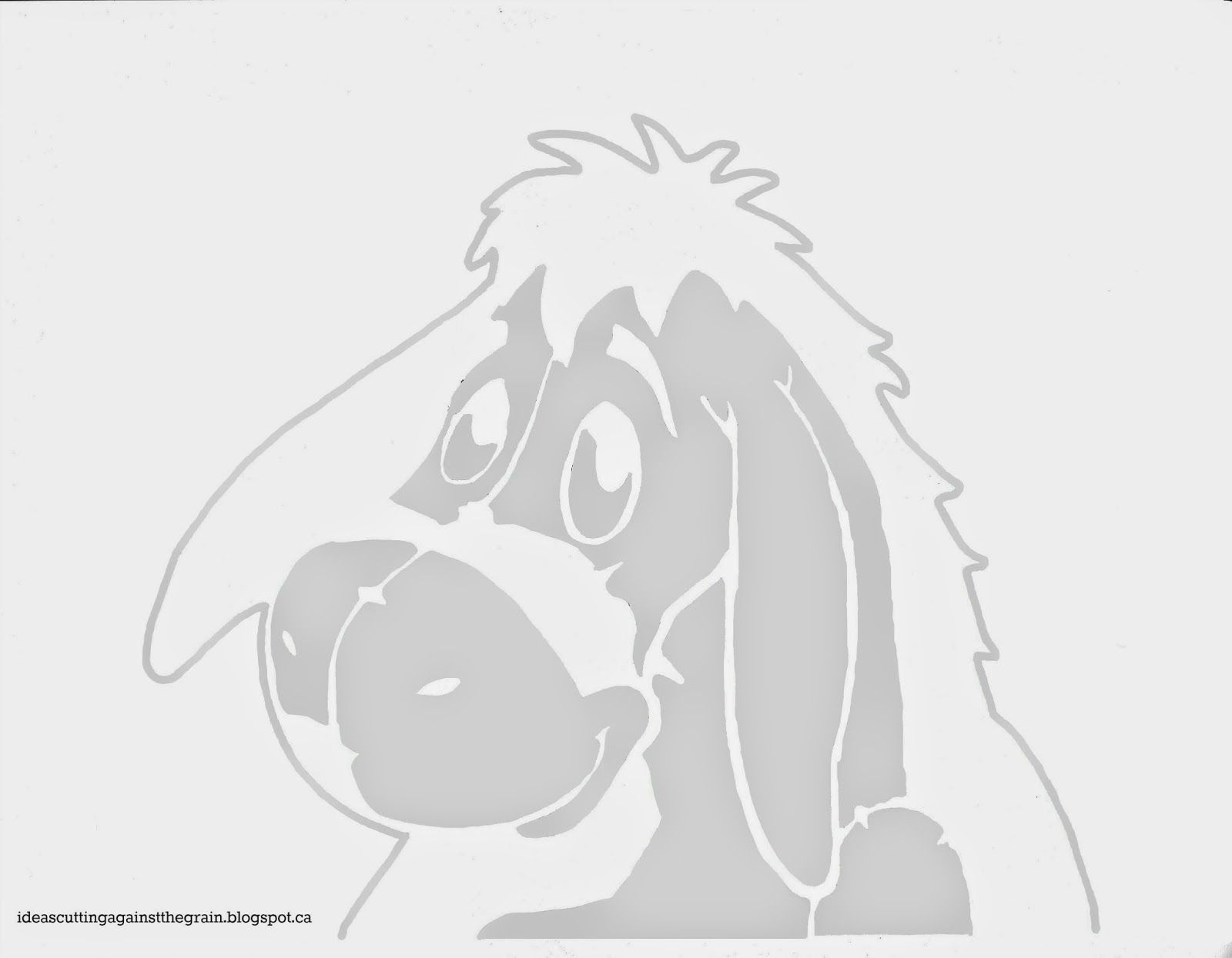 Eeyore pumpkin stencil ceramics pinterest pumpkins for Winnie the pooh pumpkin carving templates